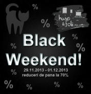 Pe www.huse-folii.ro Black Friday devine Black Weekend!