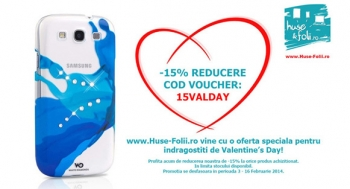 -15% Reducere pentru indragostiti de Valentine's Day!