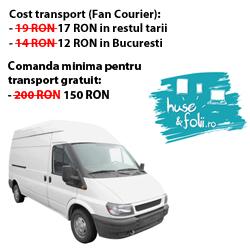 Costuri mai mici la transport pentru toate comenzile de pe www.Huse-Folii.ro