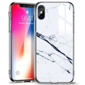 ESR Mimic- Marble case IPHO XS Max white