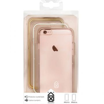 Husa Bumper CASE SCENARIO Crystal 3 in 1 + Capac Spate Roz CS-IP6S-BU04 APPLE iP