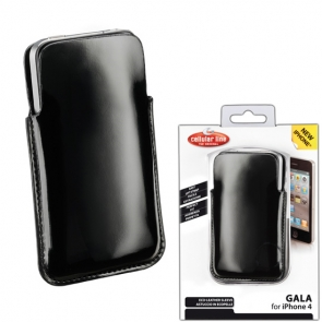 Husa Cellularline Gala Neagra iPhone 4/4S