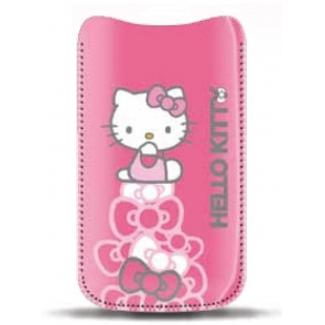 Husa Hello Kitty Pouch Pastel Roz 2 iPhone 4/4S