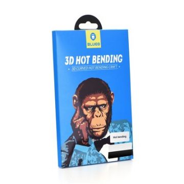 3D Mr. Monkey Glass - SAM Galaxy S9 black (Hot Bending)