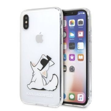 Carcasa Original faceplate KARL LAGERFELD KLHCPXCFNRC iPhone X/Xs transparent