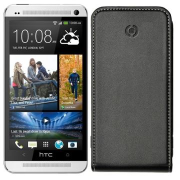 Husa Celly Flip Neagra HTC One M7