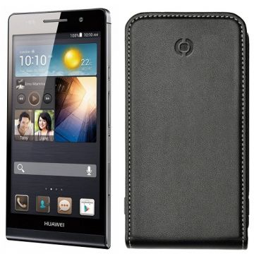 Husa Flip CELLY Face Negru FACE353 HUAWEI Ascend P6
