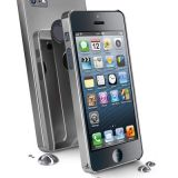 Carcasa Cellularline Chrome Gri iPhone 5