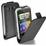 Husa Cellularline Flip Neagra HTC Wildfire S