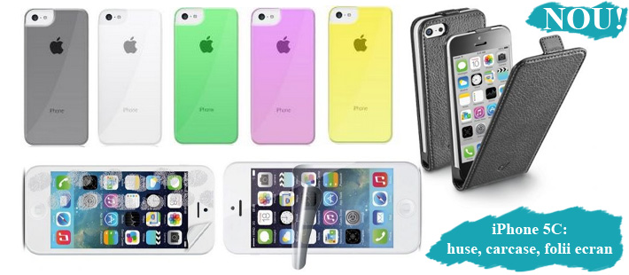 Huse, carcase, folii iPhone 5C